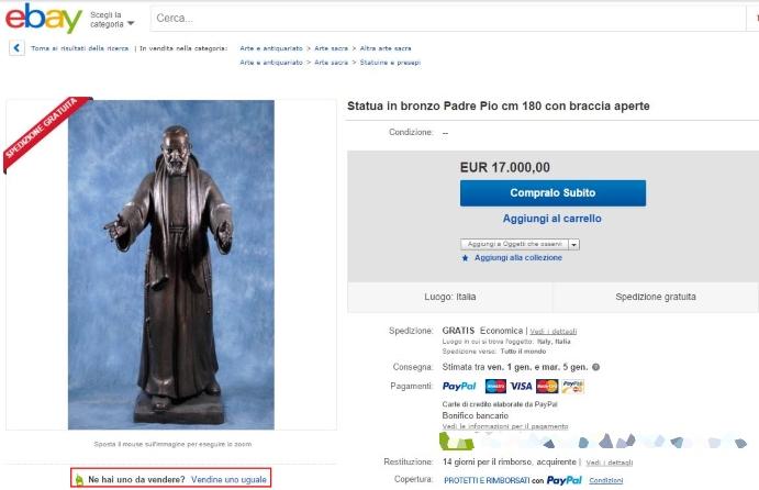 Padre Pio in bronzo