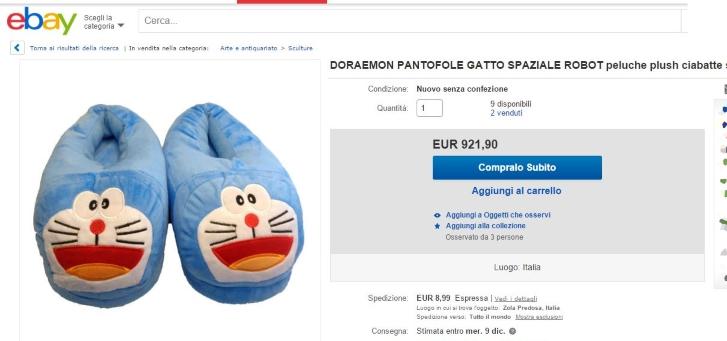 Pantofole Doraemon
