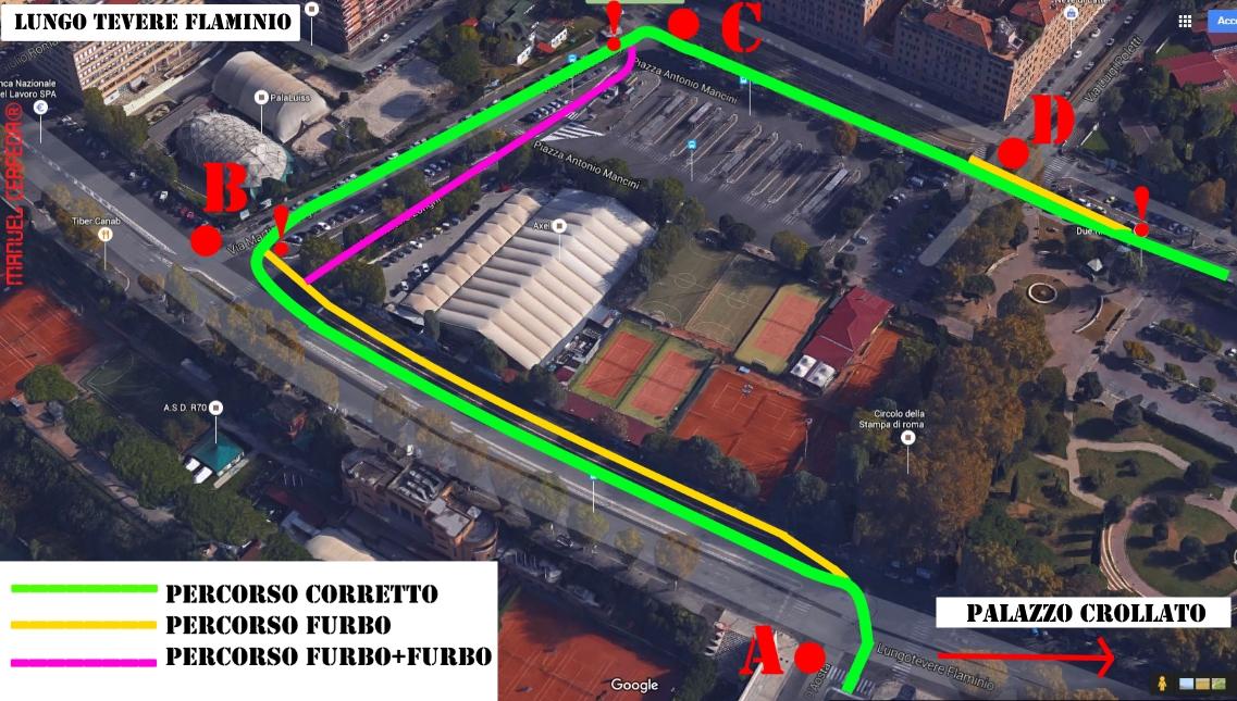 La zona del Lungo Tevere Flaminio a Roma (Google Maps)